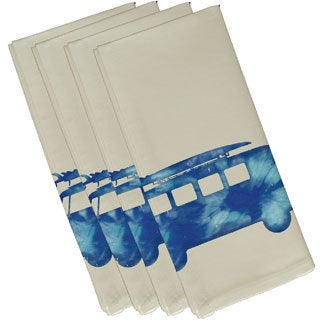 Beach Drive Geometric Print 19-inch Napkins (Set of 4)