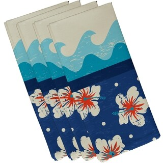 Hang Ten Floral Print 19-inch Napkins (Set of 4)