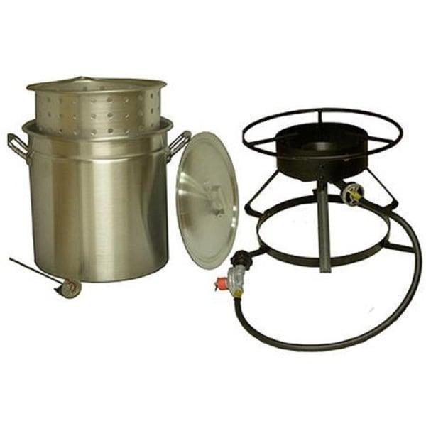 King Kooker Aluminum Pot and Cooker Package 50-quart