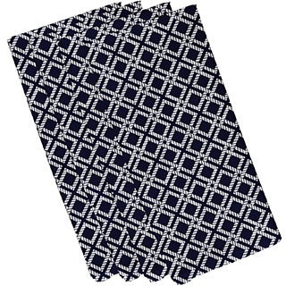 Rope Rigging Geometric Print 19-inch Napkins (Set of 4)