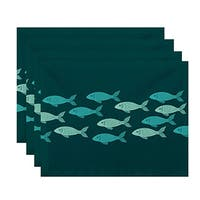 Fish Line Animal Print Placemats (Set of 4)