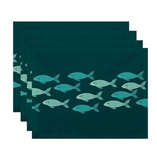 Fish Line Animal Print Placemats (Set of 4)