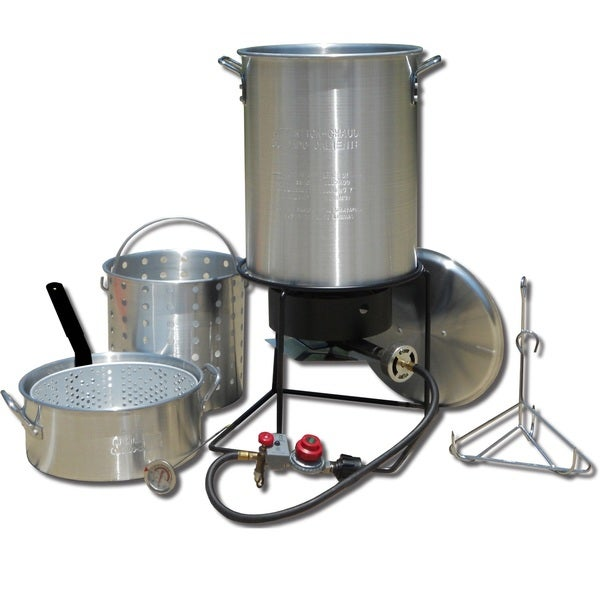 King Kooker Frying and Boiling Package with Two Pots