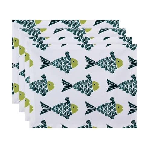 Fish Tales Animal Print Placemats (Set of 4)