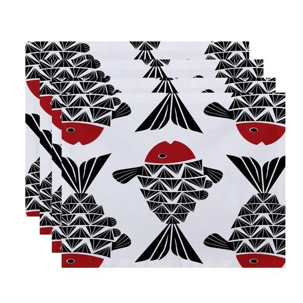 Big Fish Animal Print Placemats (Set of 4)