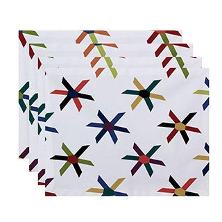 Pinwheel Pop Geometric Print Placemats (Set of 4)