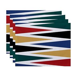 Backgammon Geometric Print Placemats (Set of 4)