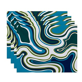 Agate Geometric Print Placemats (Set of 4)