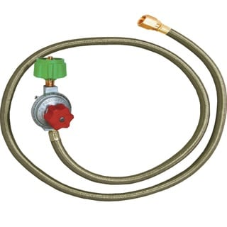 King Kooker HP Regulator and SS Hose with Male End