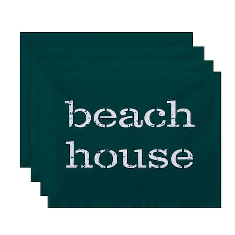 Beach House Word Print Placemats (Set of 4)