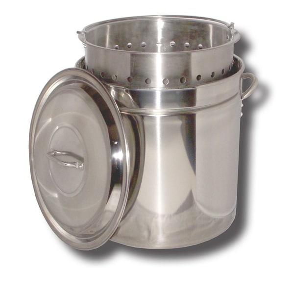 King Kooker Stainless Steel Pot Basket Lid 36-quart
