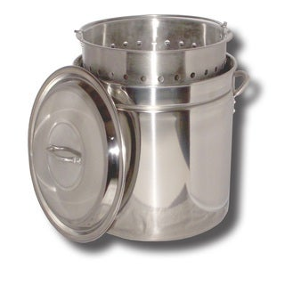 King Kooker Stainless Steel Pot Basket Lid 36-quart