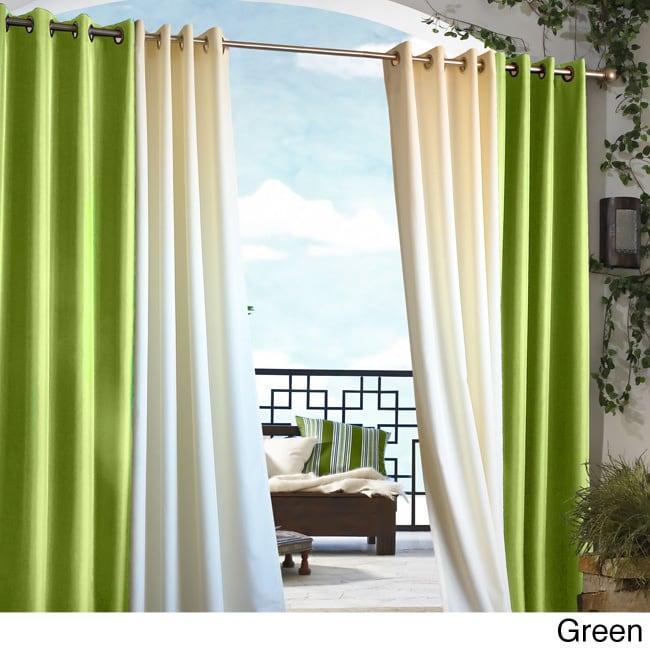 Gazebo Grommet Top 84 inch Indoor/ Outdoor Curtain Panel ...