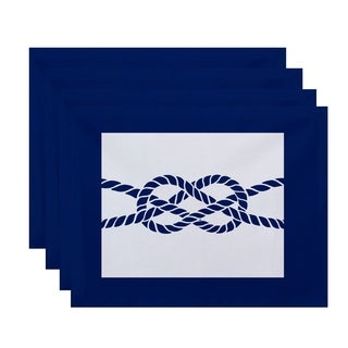 Nautical Knot Geometric Print Placemats (Set of 4)