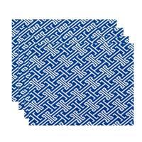 Leeward Key Geometric Print Placemats (Set of 4)