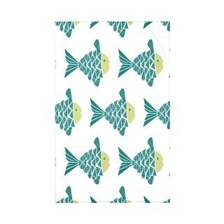 Fish Tales Animal Print 50 x 60-inch Throw Blanket