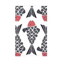 Big Fish Animal Print 50 x 60-inch Throw Blanket