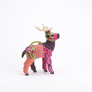 Woven Reindeer Ornament