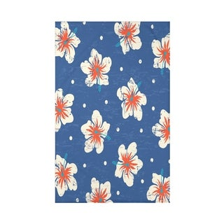 Hibiscus Blooms Floral Print 50 x 60-inch Throw Blanket