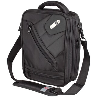 Ful Sidecar Black Vertical Messenger Bag