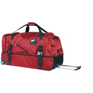 Ful Tour Manager Deluxe Red 30-inch Rolling Drop-Bottom Duffel Bag