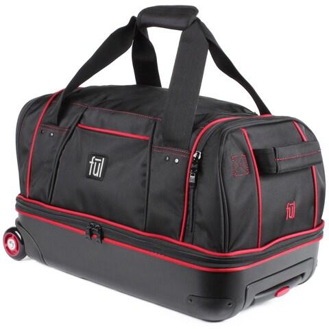 Ful Hybrid 21-inch Carry On Drop Bottom Rolling Duffel Bag