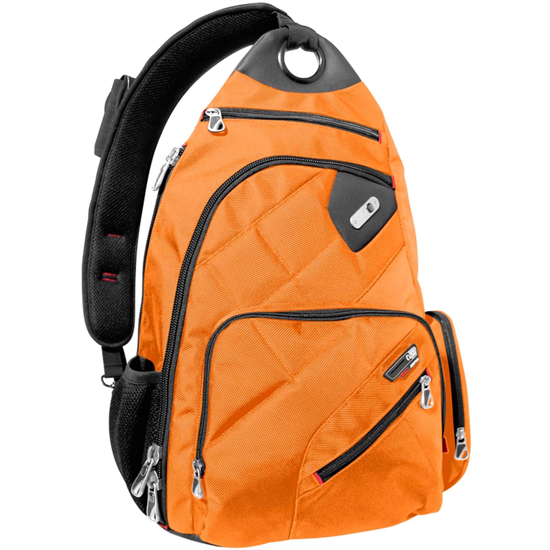 Ful Brick House Orange Laptop Sling Backpack with Smart P...