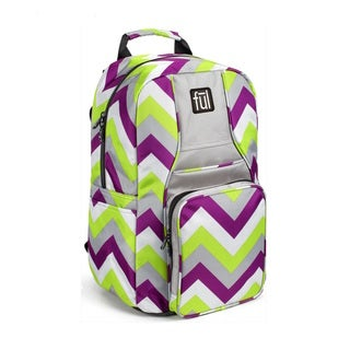 Ful Stretto Purple/Lime Chevron 18-inch Backpack