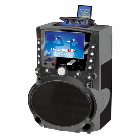 "GF757DVD/CDG/MP3G Karaoke System with 7"" TFT Color Screen"