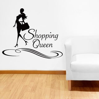 Shopping Queen Vinyl Sticker Wall Decor