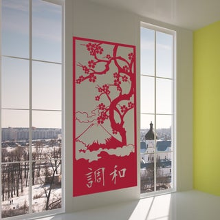 Japanese Harmony Vinyl Sticker Wall Decor