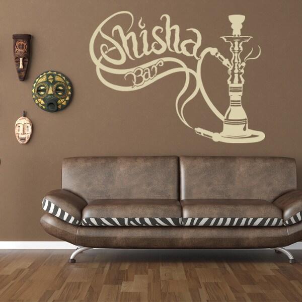 Shop shisha bar vinyl sticker wall decor on sale free shipping today 10808057 - Shisha bar dekoration ...