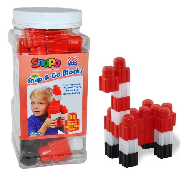 SNAPO 35-Piece Red Big Blocks Set