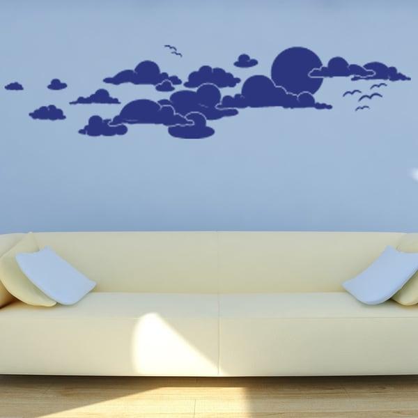 Cloudy Sky Vinyl Sticker Wall Decor
