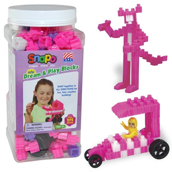 SNAPO 277-Piece Dream and Play Blocks