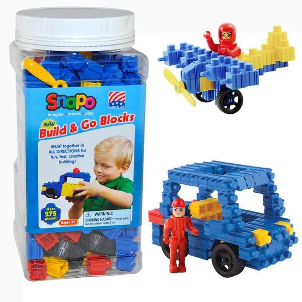 SNAPO 277-Piece Build and Go Blocks
