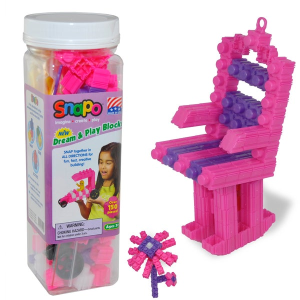 SNAPO 151-Piece Dream and Play Blocks