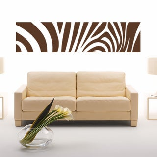 Zebra Print Vinyl Sticker Wall Decor