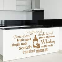 Whiskey Variations Vinyl Sticker Wall Decor