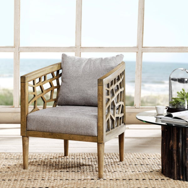 Ink And Ivy Crackle Lounge Chair Free Shipping Today