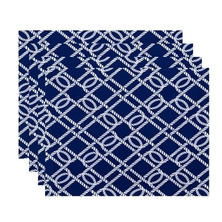 Know the Ropes Geometric Print Placemats (Set of 4)
