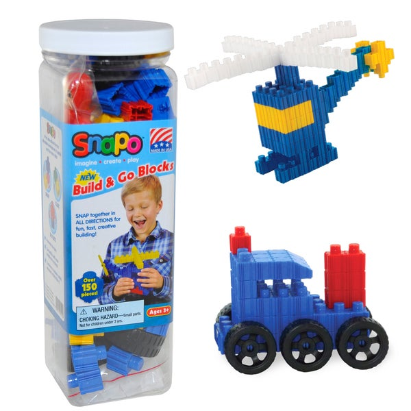 SNAPO 151-Piece Build and Go Blocks