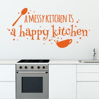 Happy Kitchen Vinyl Sticker Wall Decor