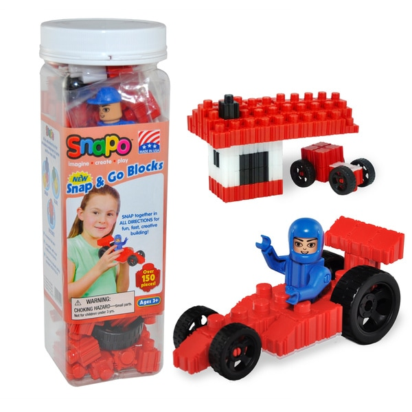 SNAPO 151-Piece Snap and Go Blocks