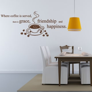 Coffee Is Served Vinyl Sticker Wall Decor
