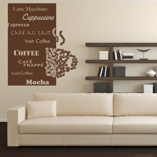 Coffee Deluxe Vinyl Sticker Wall Decor