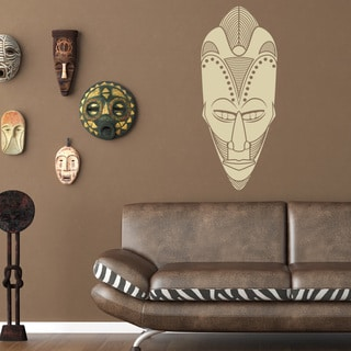 Shop African Mask Vinyl Sticker Wall Decor On Sale