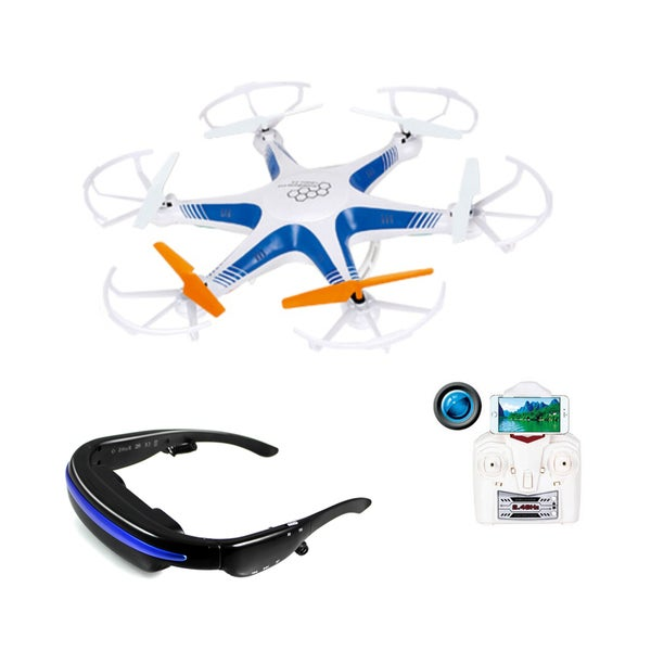 Force Flyers 2.4G 4-Channel HeadsUp RC Drone with FPV