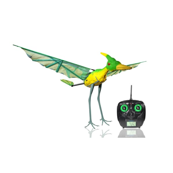Paul G Toys Remote Control Green Pterodactyl