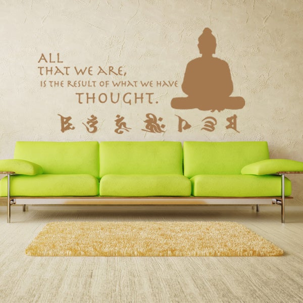 shop buddha quote vinyl sticker wall decor - on sale - free shipping